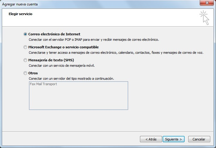 Configuracion de Outlook